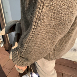 [Korean Style] Woolen Pattern-Knit Sweater