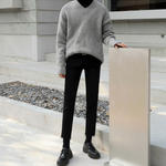 [Korean Style] V-neck Pullover Loose Sweater