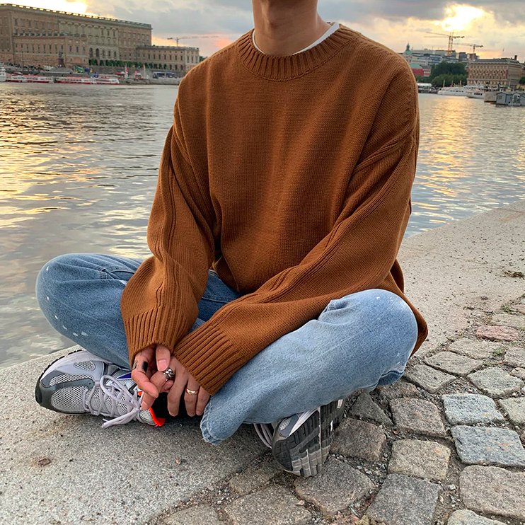 [Korean Style] 3 Color Oversize Wool Sweater