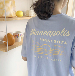 [Korean Style] Kethie Minneapolis Box Tee