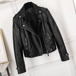 [Korean Style] Jojo Faux Leather Biker Jacket