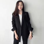 [Korean Style] York Basic Black Blazer