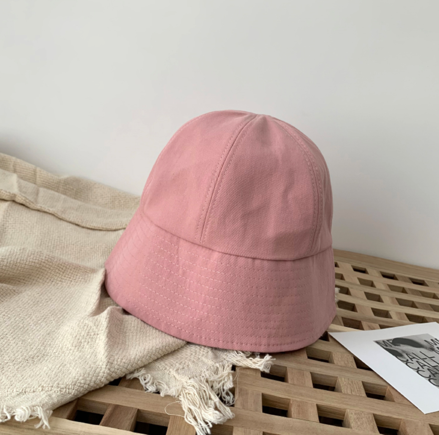 [Korean Style] Lave Solid Color Bucket Hat