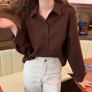 [Korean Style] Harriet Solid Color Dense Cotton Shirts