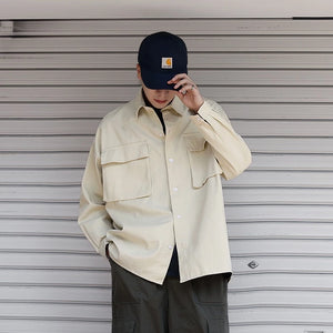 [Korean Style] Safati Big Pockets Shirts