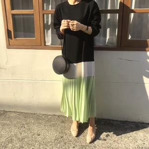 [Korean Style] Jooj Pleated Patch Dress
