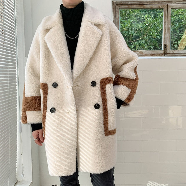 [Korean Style] Chamois Double Breasted Snow Coats
