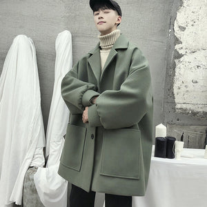 [Korean Style] Damos Casual Woolen Coats