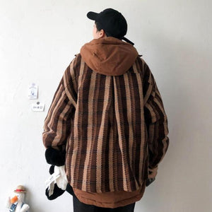 [Korean Style] Two Pieces Layered Cotton Hoodie Jackets