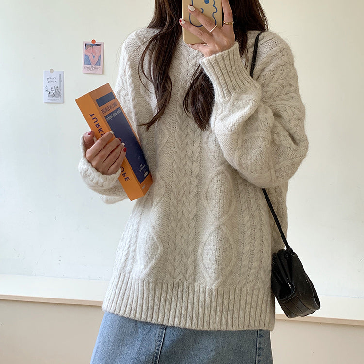 [Korean Style] Sharon Twist Thick Sweater
