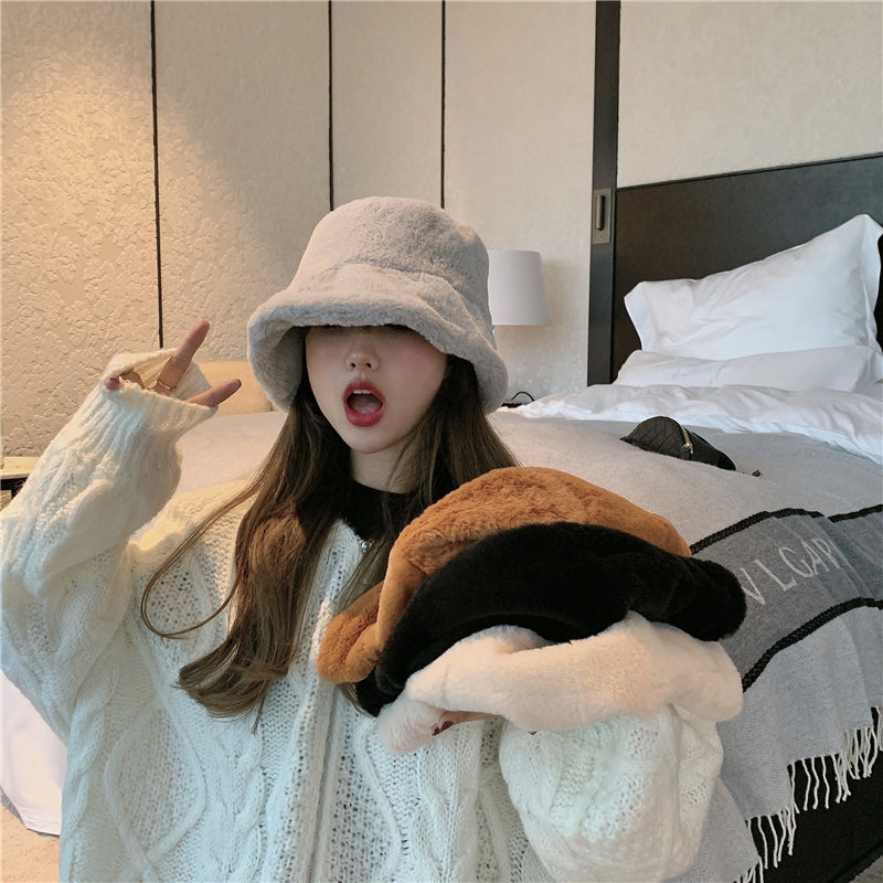 [Korean Style] Olivia Furry Bucket Hat