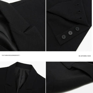 [Korean Style] Lex Black Double Suit Jackets