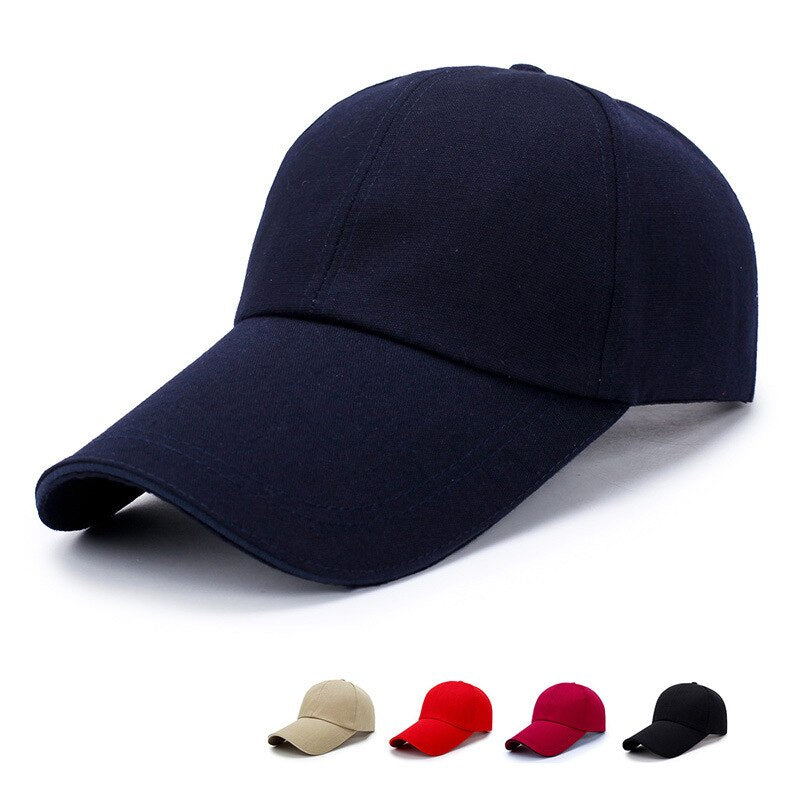 [Korean Style] Brim Basic Baseball Caps