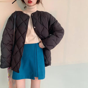 [Korean Style] Bradlie Zip up Mini Skirt