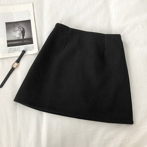 [Korean Style] Suji Solid Color Winter Mini Skirt
