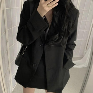 [Korean Style] Bela 2 Piece Black Suit