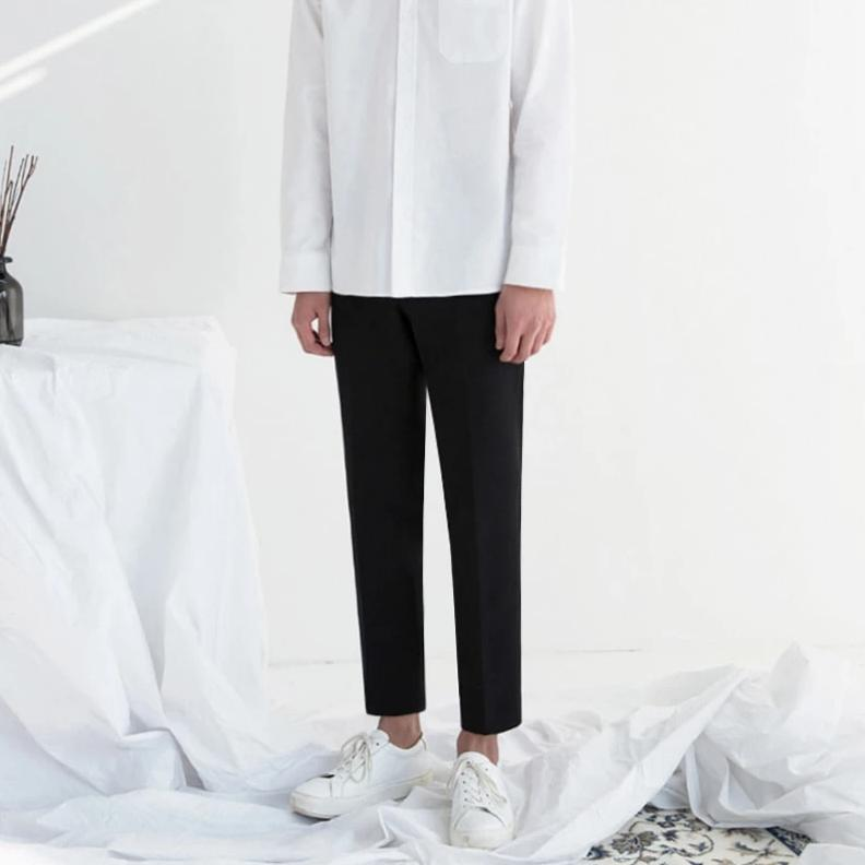 [Korean Style] Ivory / Black Best Fit Trousers