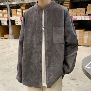 [Korean Style] Corduroy Long Sleeve Shirts