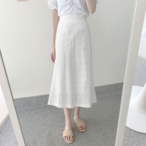[Korean Style] Prairie Blouse & Skirt Two Piece Sets