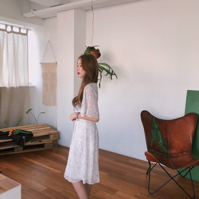 [Korean Style] 2 Colors Vestido Ruffle Dresses