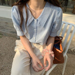 [Korean Style] Fleurine Sailor Collar Blouse