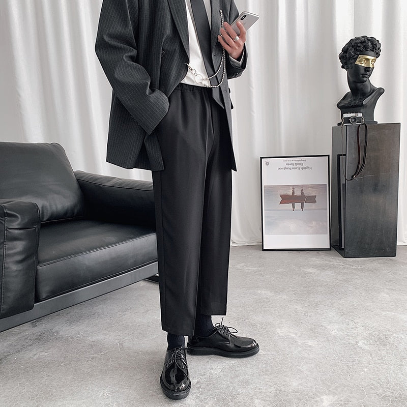 [Korean Style] Twill Drawstring Casual Pants