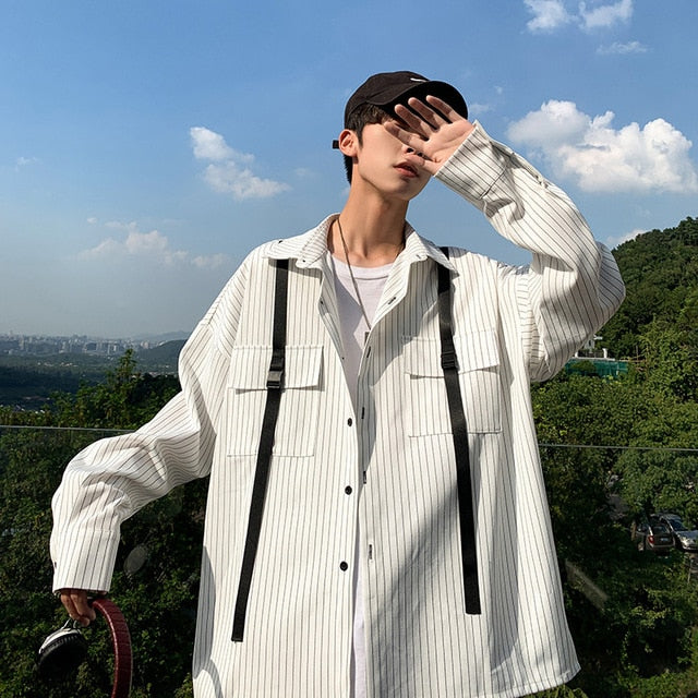 [Korean Style] Loco Casual Striped Shirts
