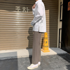 [Korean Style] 2 Colors Hun Straight Casual Pants