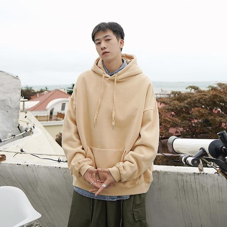 [Korean Style] Solid 13 Color Cotton Hooded Sweatshirts