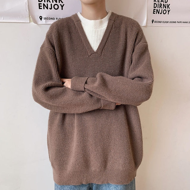 [Korean Style] 4 Colors Crocheted Wool Sweater