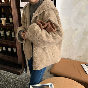 [Korean Style] Setch  Double Sided Shearling Teddy Jacket