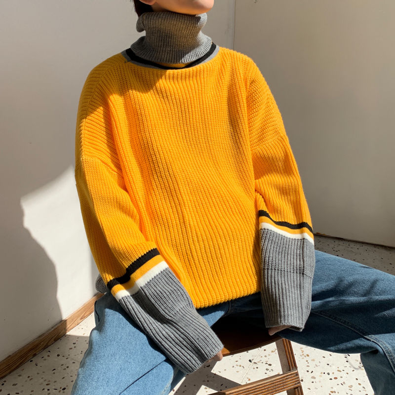 [Korean Style] Colorwork Turtleneck Sweater
