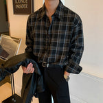 [Korean Style] Ray Casual Plaid Shirts
