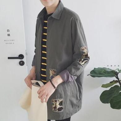 [Korean Style] Trendy Patchwork Shirts*