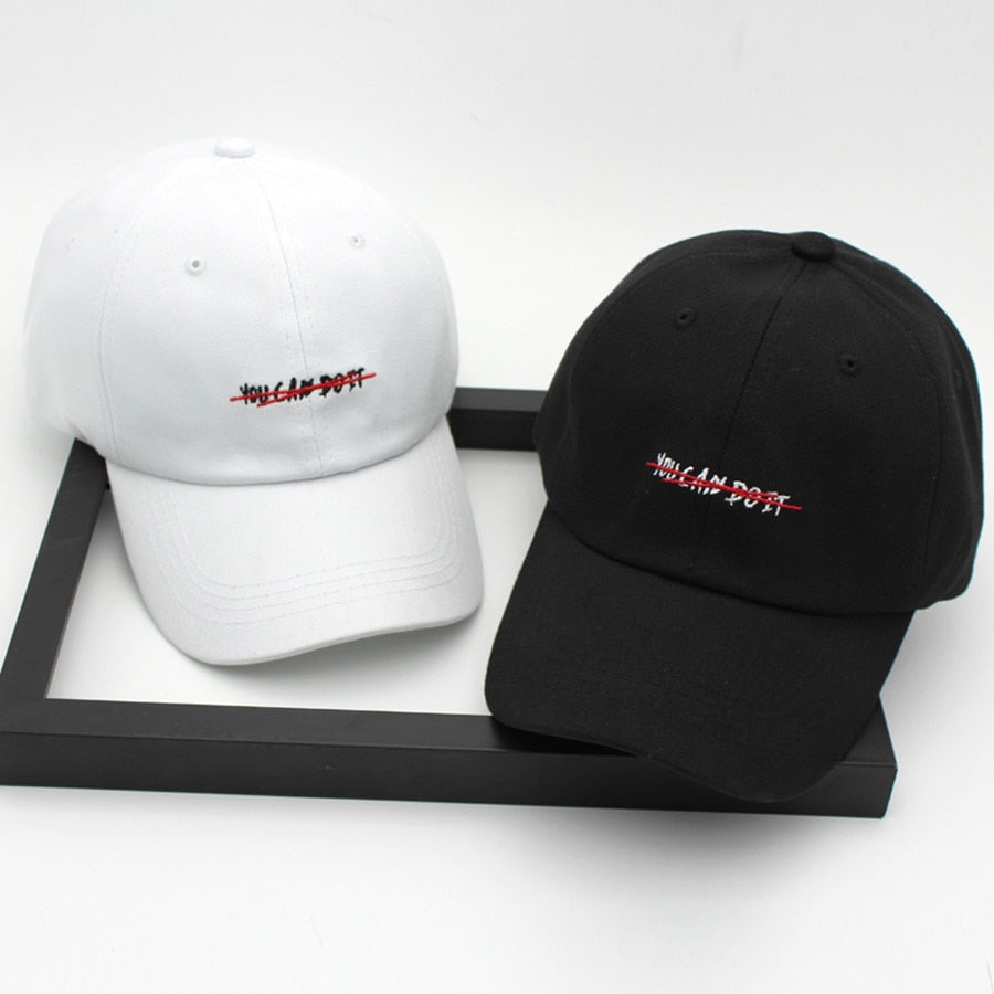 [Korean Style] You Can Do It Embroidery Baseball Cap
