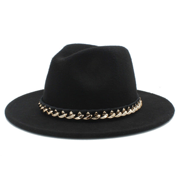 [Korean Style] Wool Fedora Hat With Wide Brim
