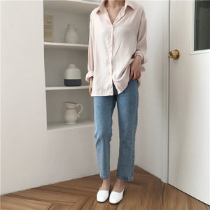 [Korean Style] Minimalistic Solid Color Shirts