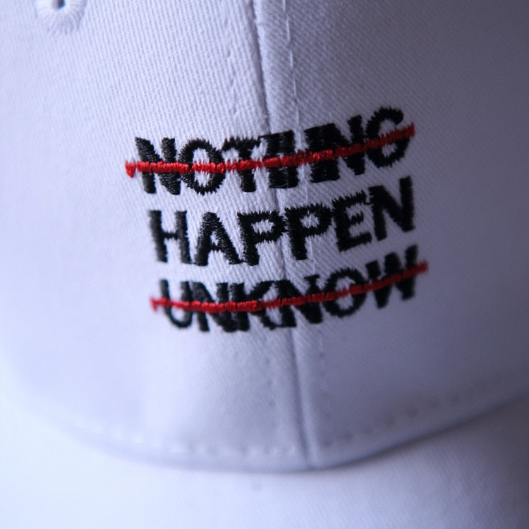 [Korean Style] Nothing Happen Embroidery Baseball Cap