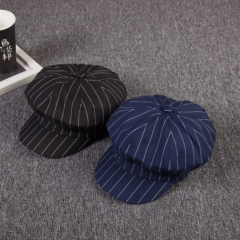[Korean Style] Vertical Stripes Beret*