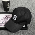 [Korean Style] Embroidery Letter S Baseball Cap