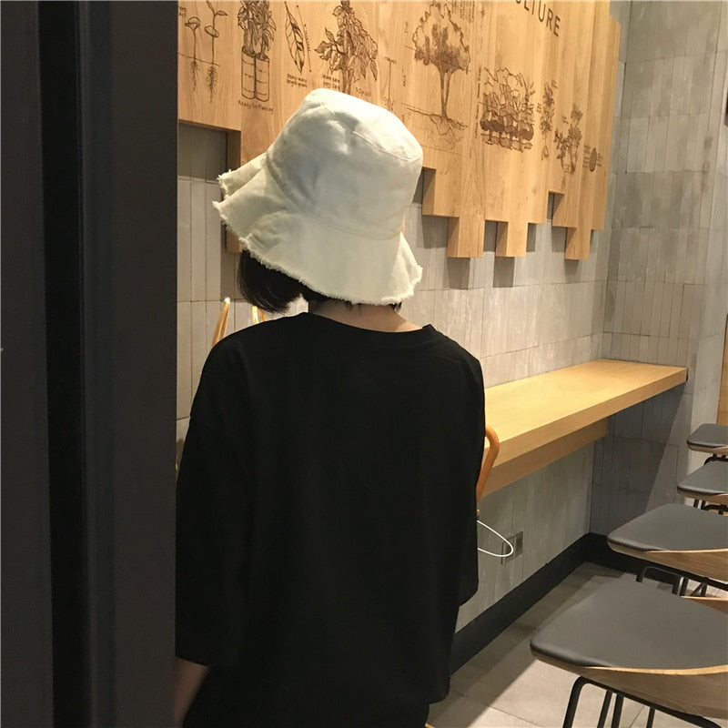 [Korean Style] Solid Color Bucket Hat
