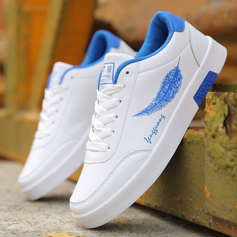 [Korean Style] Leaf Priniting Flat Sneakers