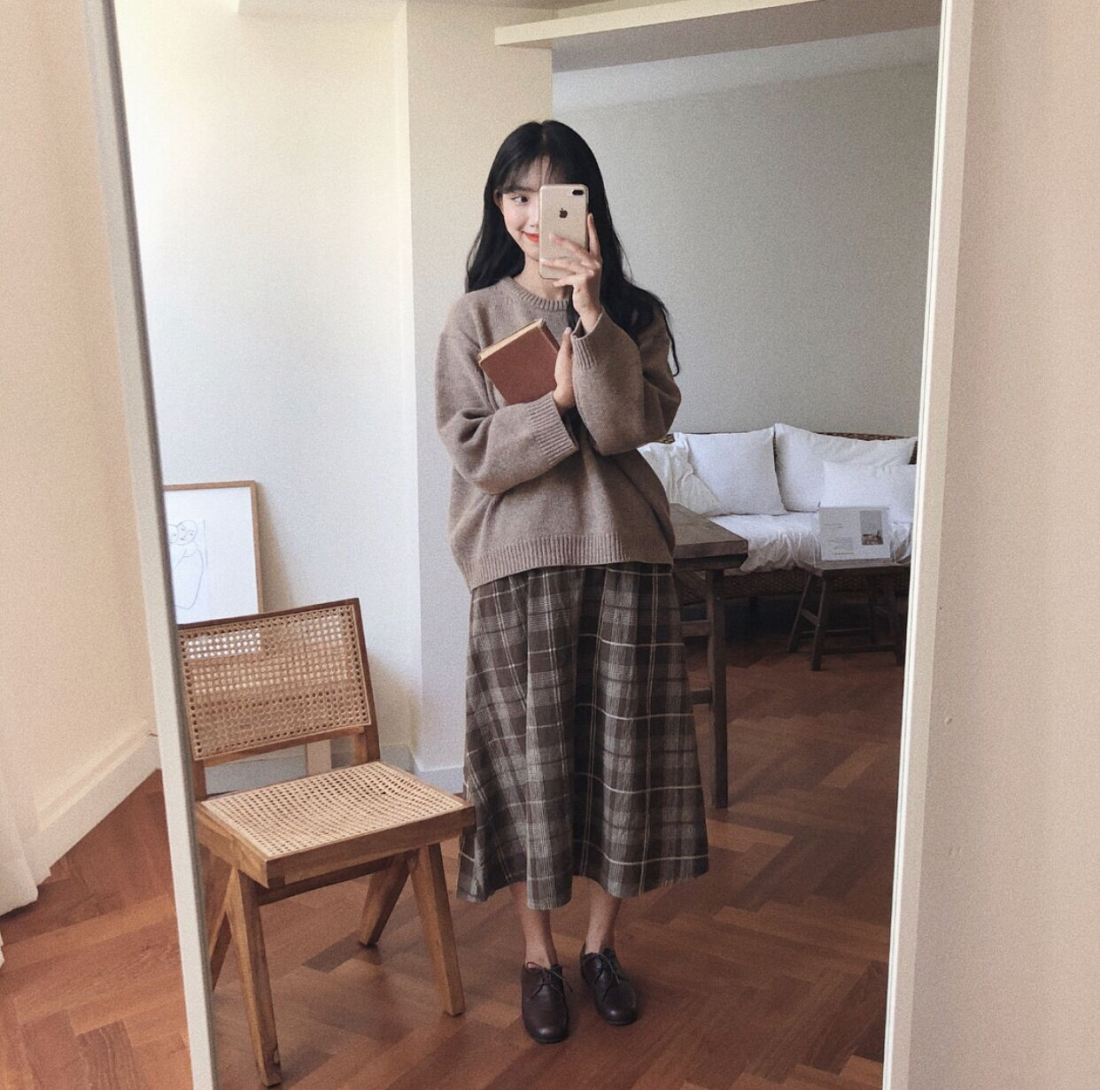 22+ Sweater With Long Skirt Korean PNG