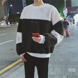 [Korean Style] Nory Stitching Letter Sweatshirts