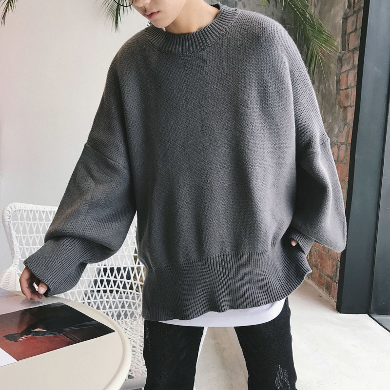 [Korean Style] Crocheted Simple Round Knitwear