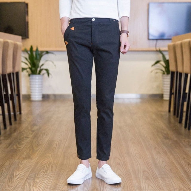 [Korean Style] Elly Cotton Slim Fit Pants