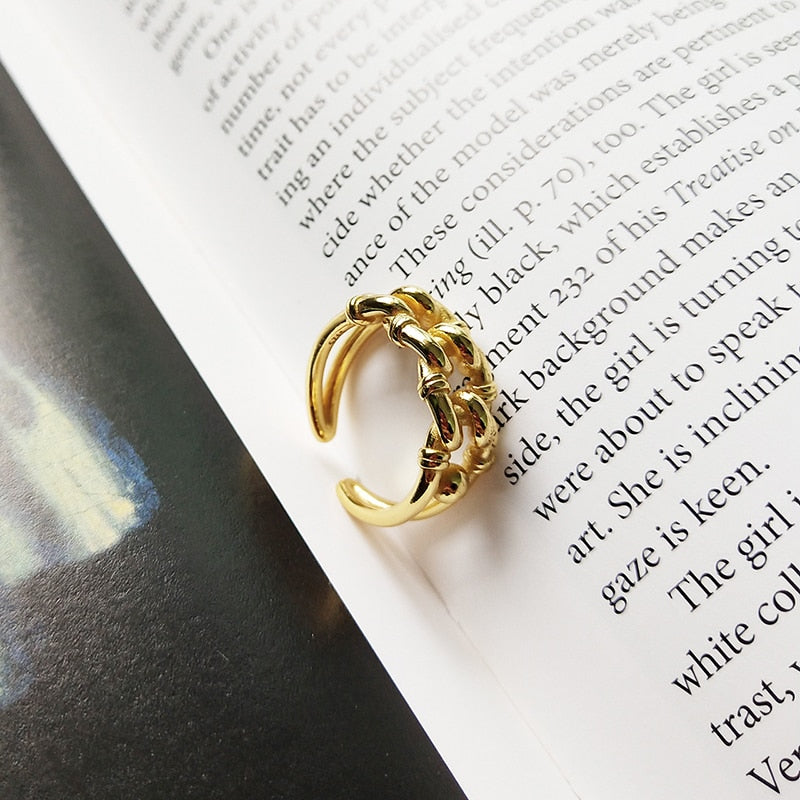 [Korean Style] Lereo 925 Sterling Silver Chunky Adjustable Statement Ring