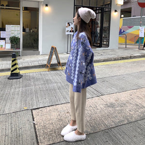 [Korean Style] Anna Deer Pattern Knit Sweater