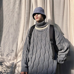 [Korean Style] High-Quality Cashmere Turtleneck Knit