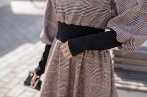 [Korean Style] Vestido A-Line Woolen Turtleneck Dress